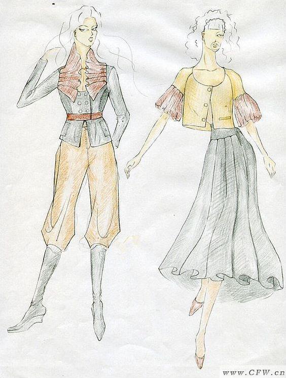 女装手稿-女装设计-服装设计