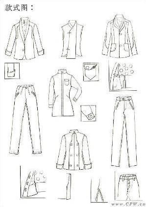 家居服手稿-女装设计-服装设计-服装设计网手机版|触