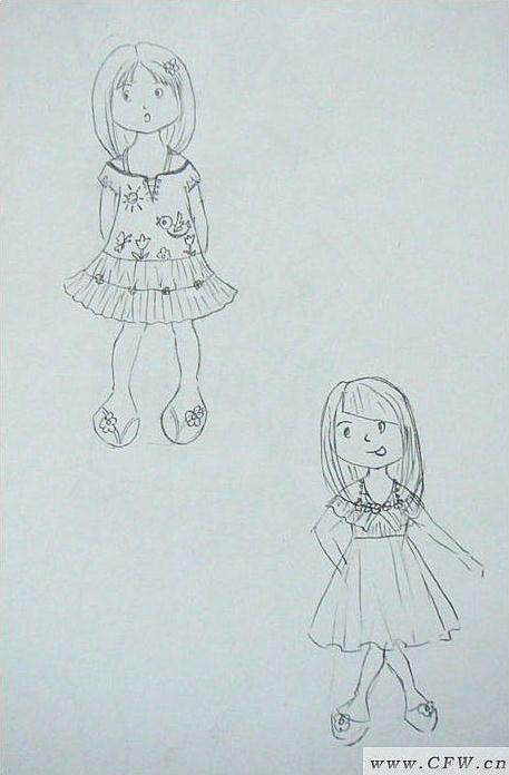 童装系列手绘图片大全效果图