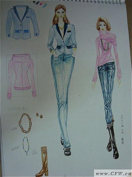 随便画画-女装设计-服装设计