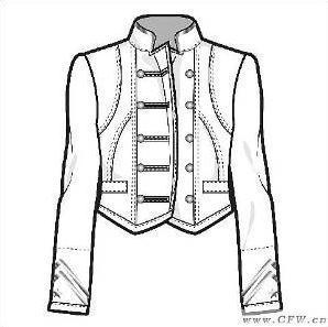 中學生班服設計校服設計圖-職業服裝設計-服裝設計-網