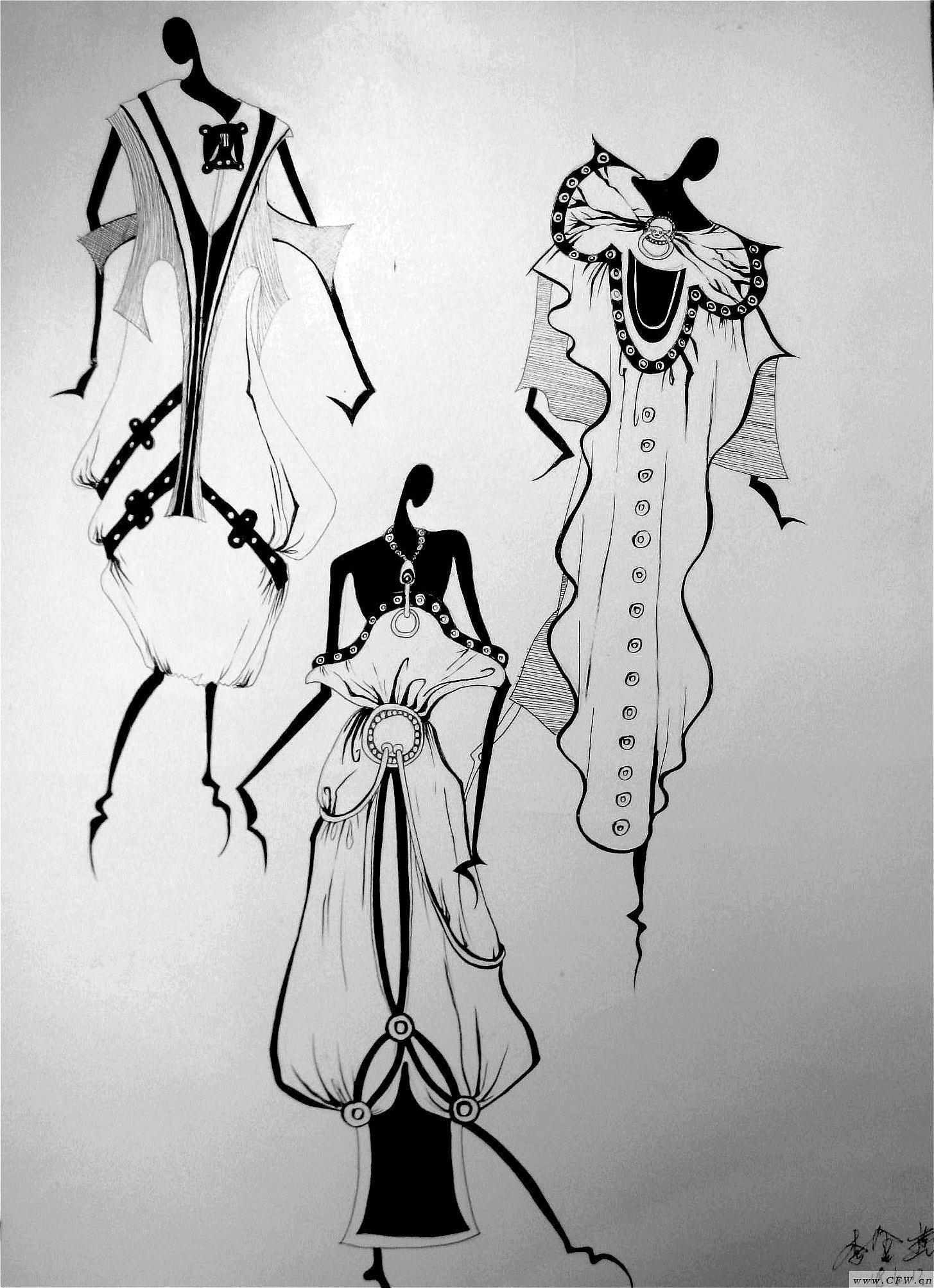 黑白-大赛作品设计-服装设计