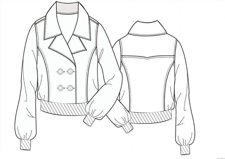 平面款式图-女装设计-服装设计