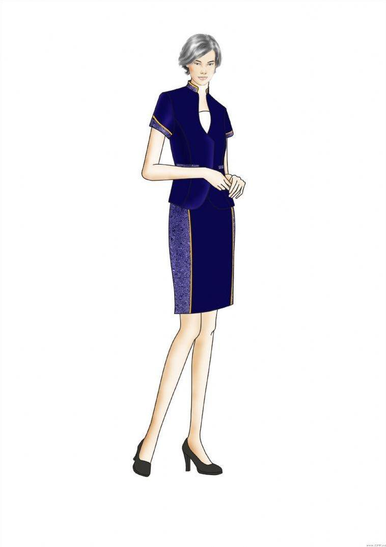 设计效果图-职业服装设计-服装设计