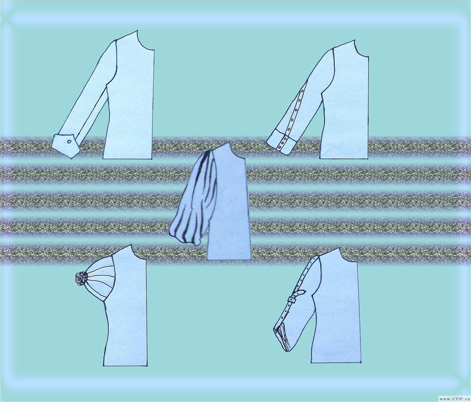 袖子设计作品-袖子设计款式图