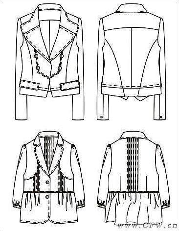 我的coreldraw绘图作品-职业服装设计-服装设计