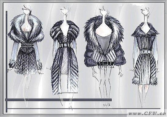 裘皮-女装设计-服装设计