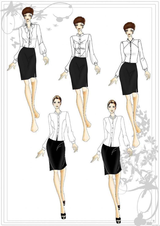 职业装女衬衣-职业服装设计-服装设计