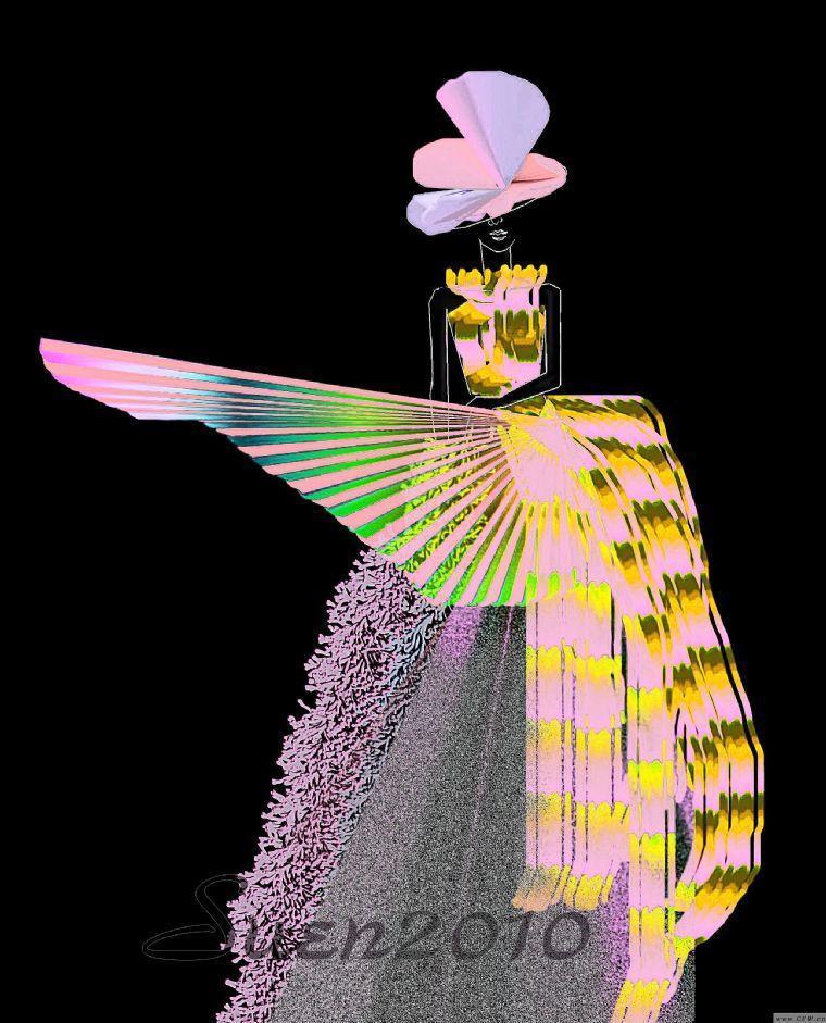夸张礼服-婚纱礼服设计-服装设计