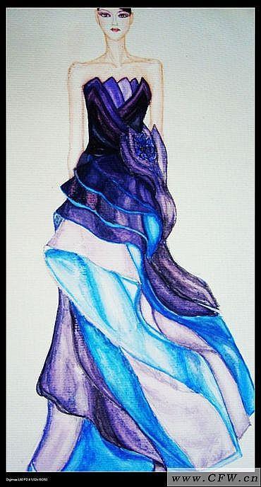 服装画技法-婚纱礼服设计-服装设计