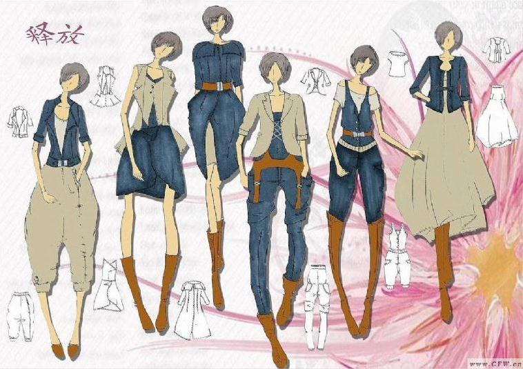 服裝畫-女裝設計-服裝設計