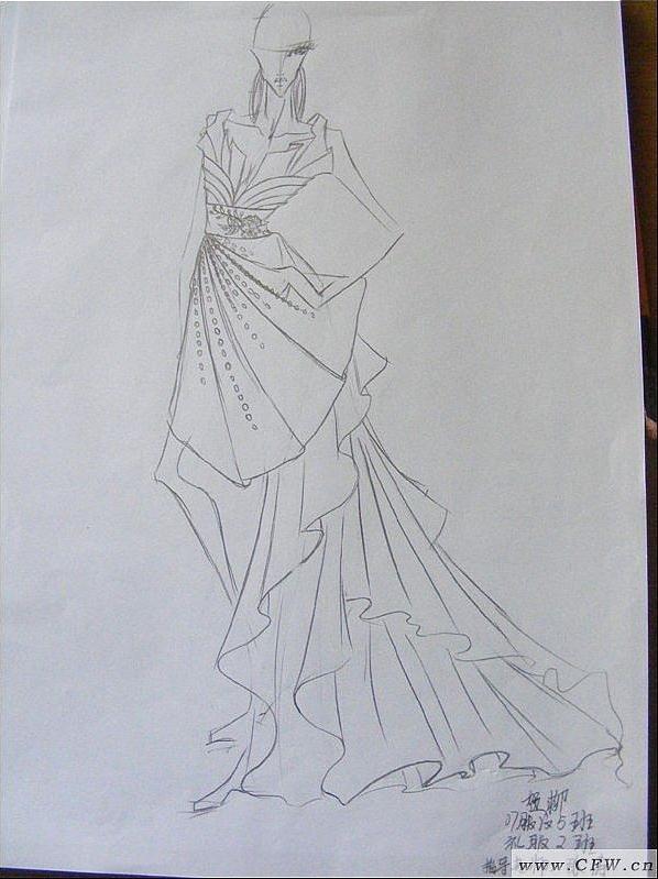 线描搞2-婚纱礼服设计-服装设计
