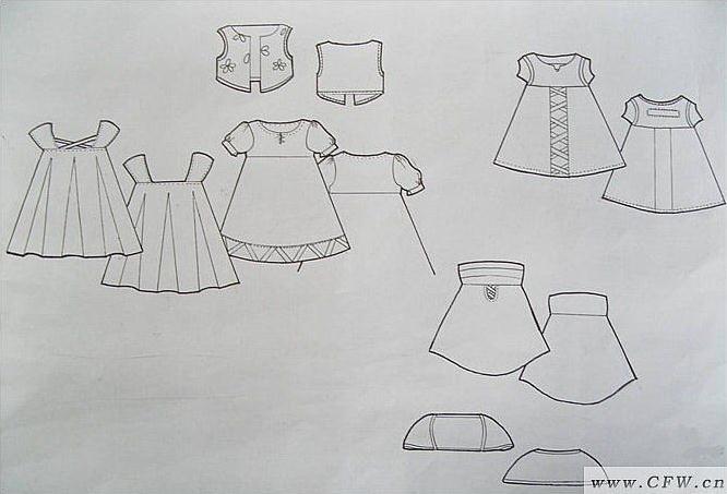 画可爱的小裙子