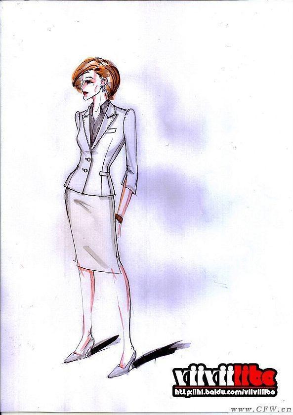 服装设计手绘效果图-职业服装设计-服装设计