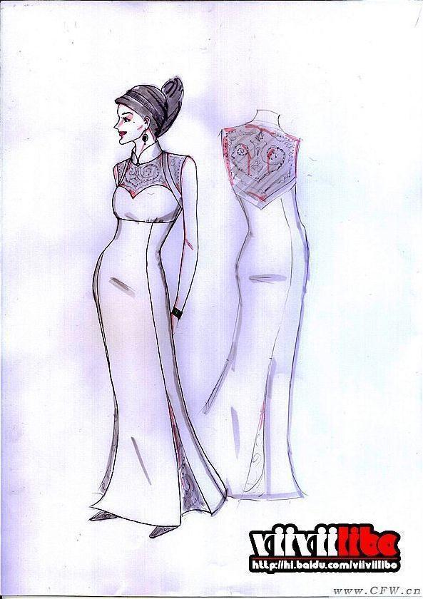 服装设计手绘效果图-婚纱礼服设计-服装设计