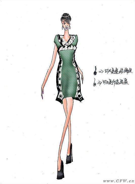 休闲装-女装设计-服装设计