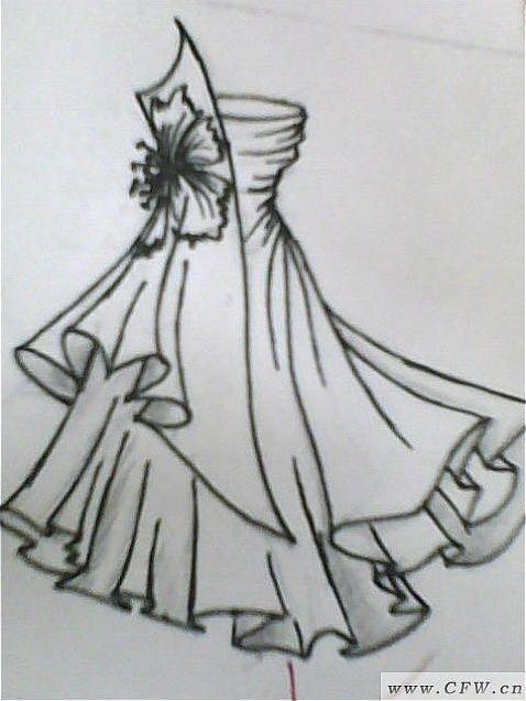 服裝設計的圖紙上色是用什么上色的?手繪.彩鉛還是顏料?