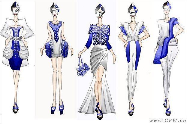 海洋系列-女装设计-服装设计