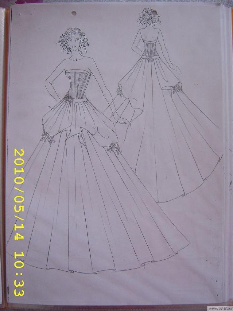 婚纱手绘-婚纱礼服设计-服装设计