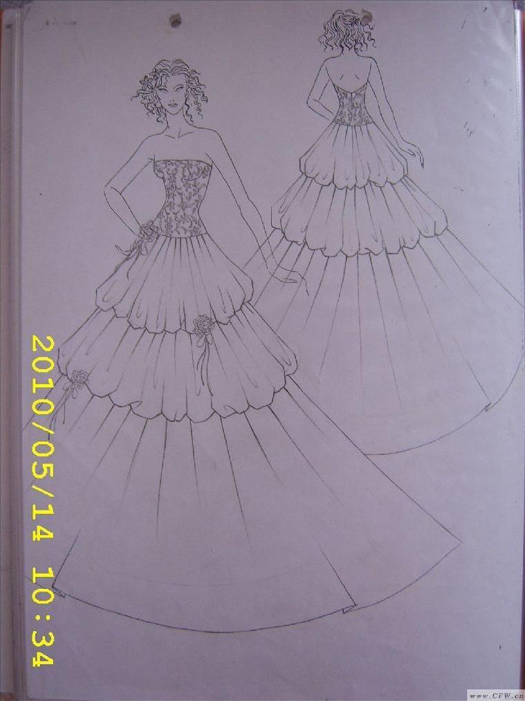 婚纱手绘 归属:婚纱礼服-婚纱 分享: 格式:jpg 尺寸: 创意:平时画的
