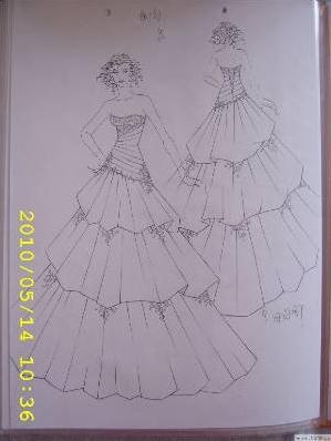 婚纱手绘-婚纱礼服设计-服装设计-服装设计网手机版
