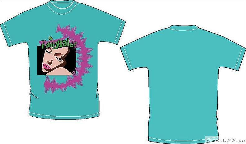 t恤设计作品-t恤设计款式图
