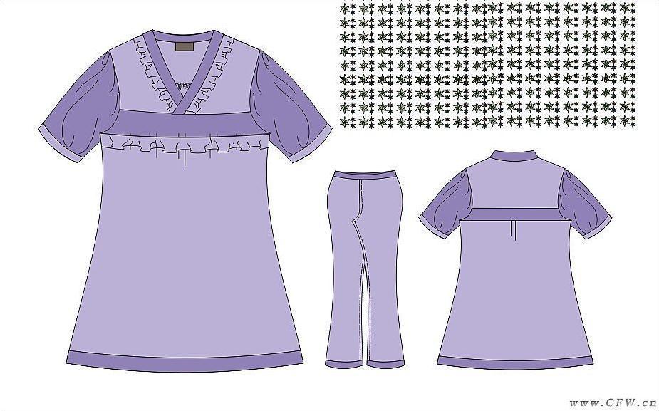 睡衣作品-睡衣款式图图片