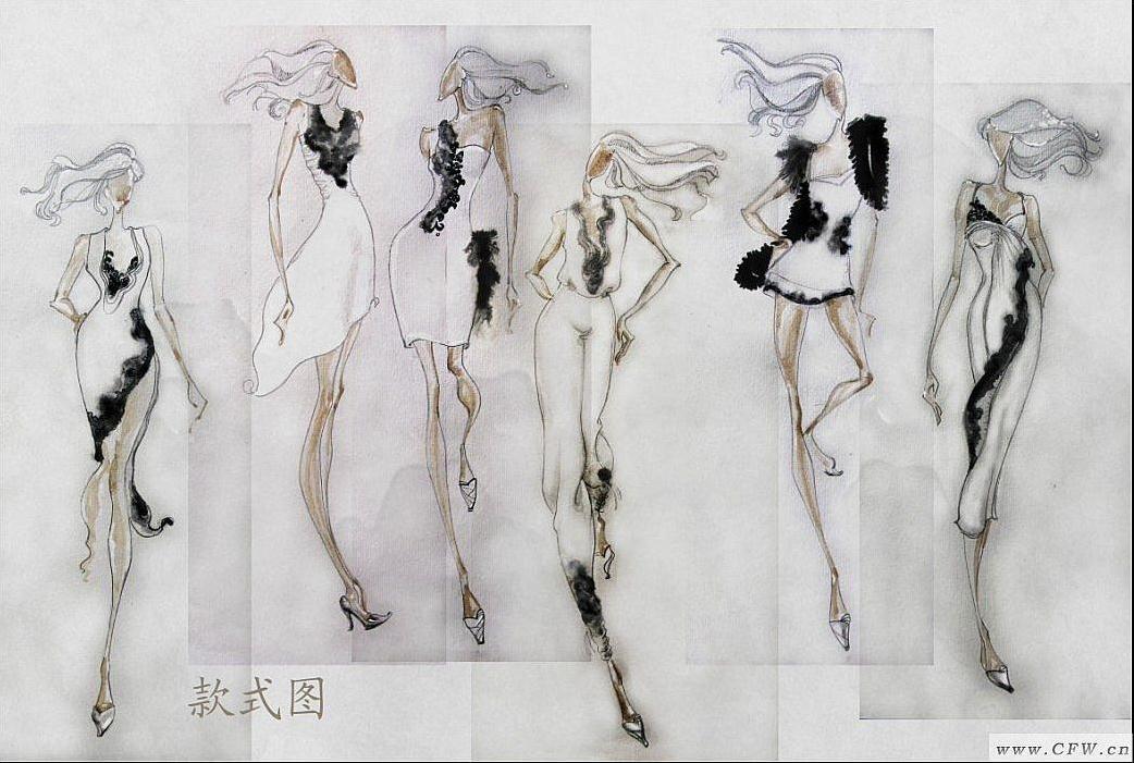 效果图-女装设计-服装设计