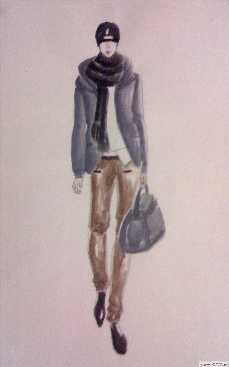 我的手绘图-男装设计-服装设计