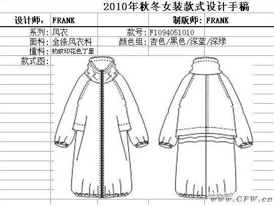 秋冬款式_風衣-女裝設計-服裝設計
