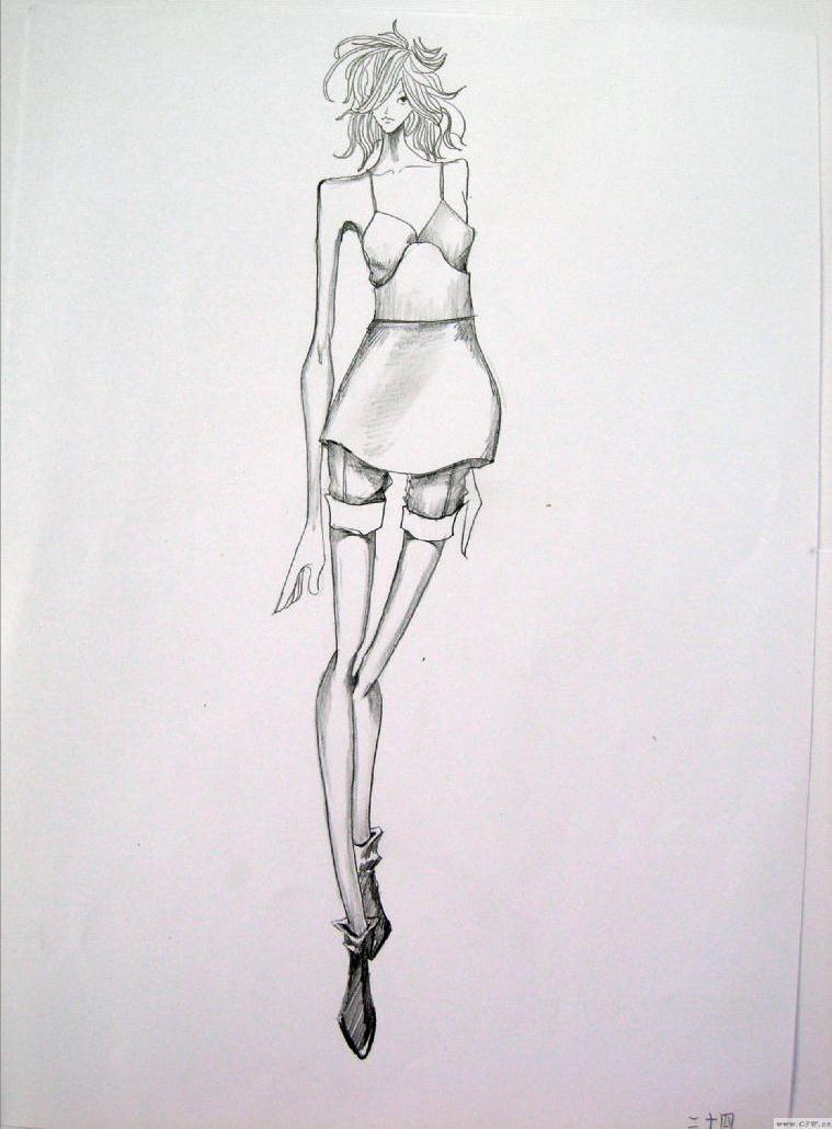 草图-女装设计-服装设计
