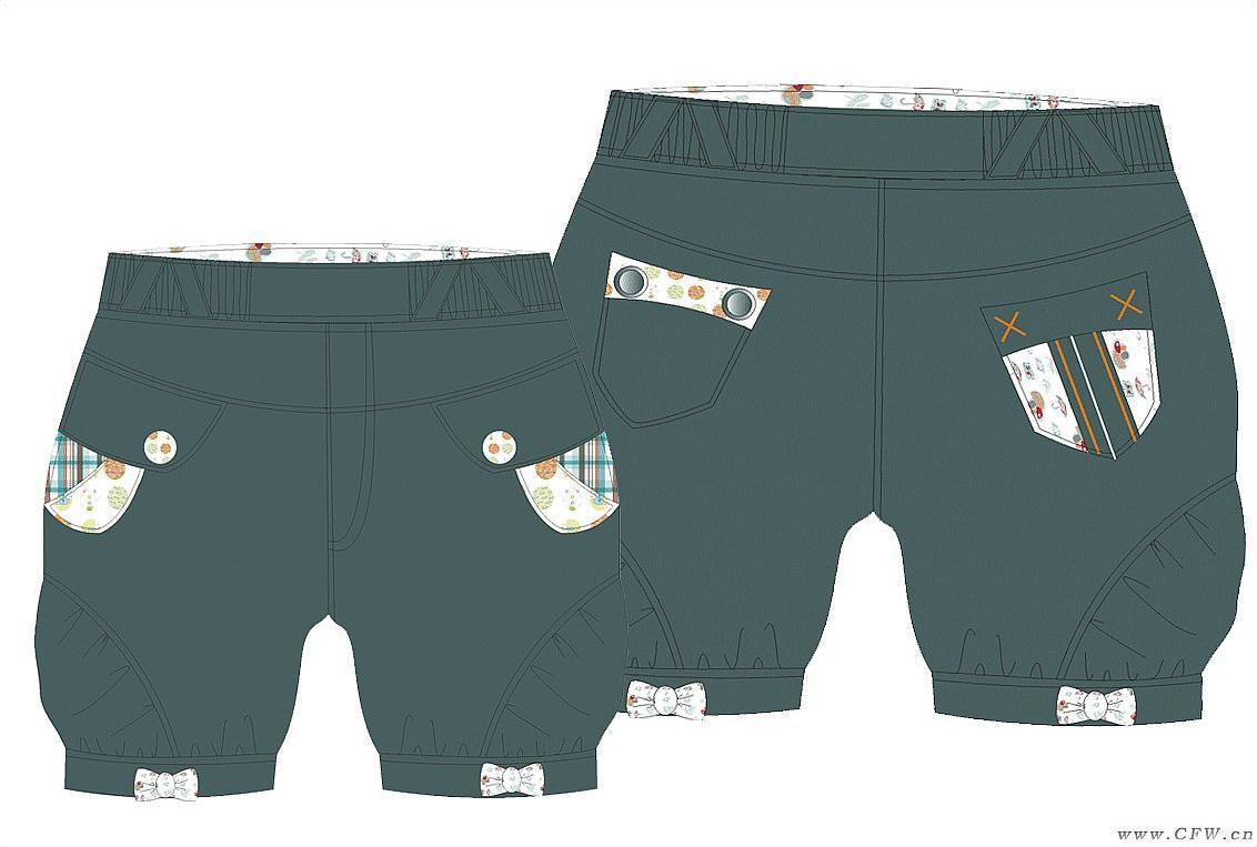 灯笼裤作品-灯笼裤款式图