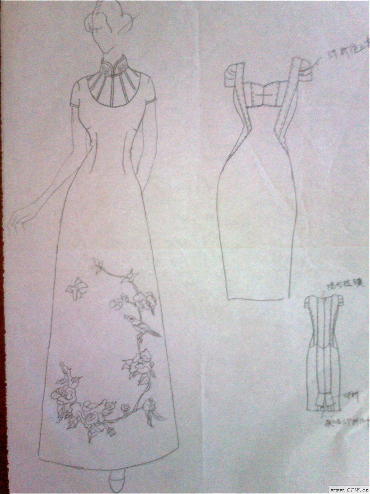 我的手稿-婚纱礼服设计-服装设计