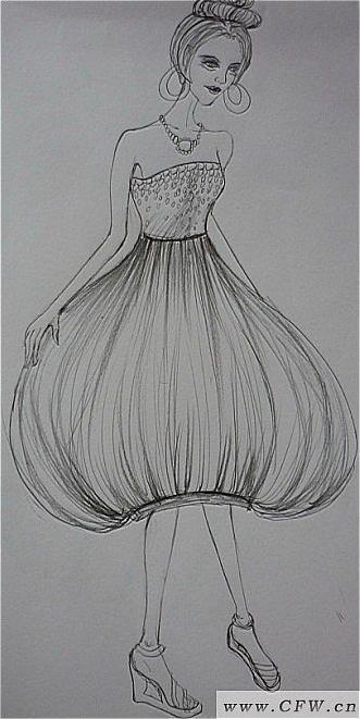 洋葱素描画法步骤图
