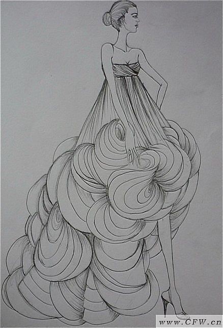 海浪-婚纱礼服设计-服装设计