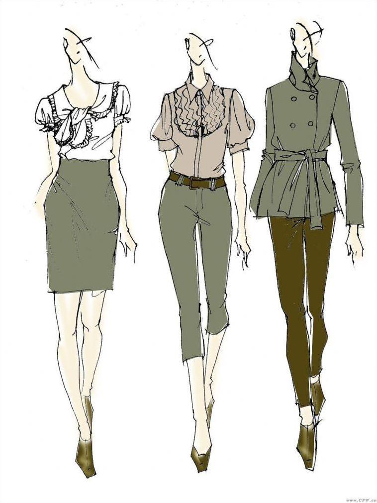 服装效果图-女装设计-服装设计图片