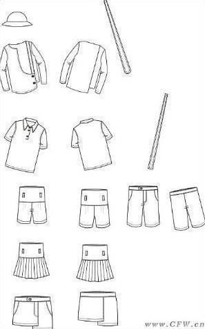 校服简单可爱手绘图