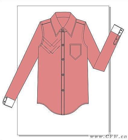 男衬衫作品-男衬衫款式图