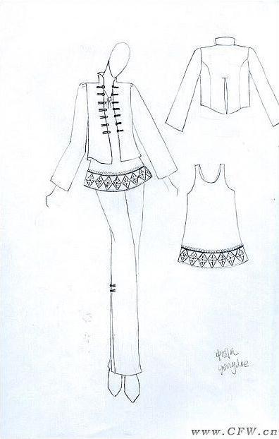 甜美可爱风的衣服简笔画
