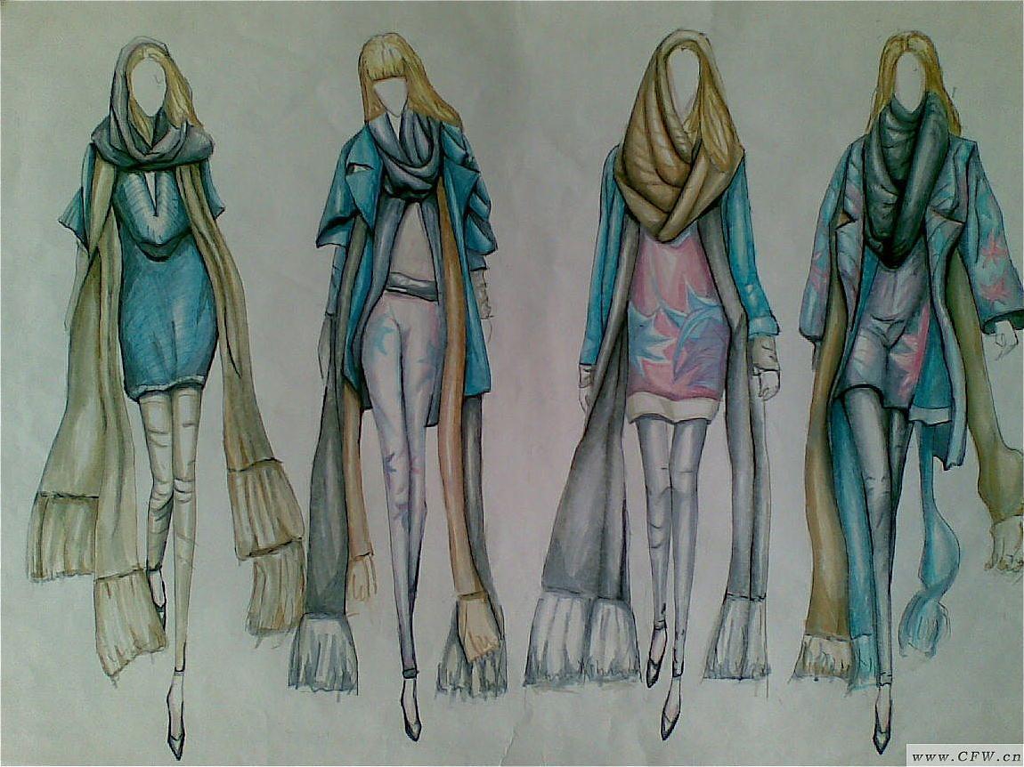 秋冬印花針織設計-毛衫針織設計-服裝設計