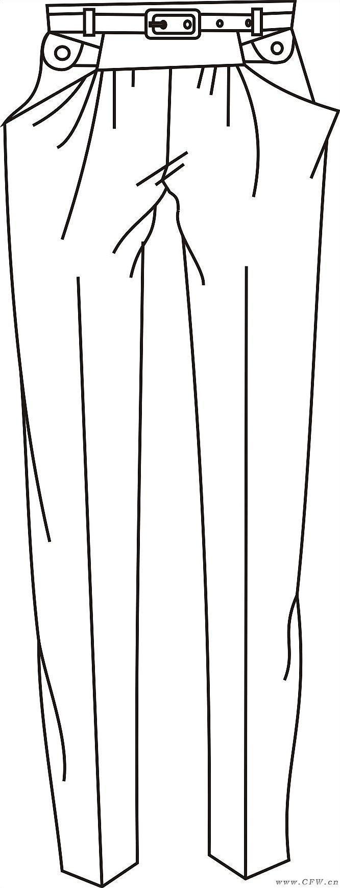 手绘女装矢量图