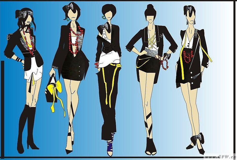 绘画-女装设计-服装设计
