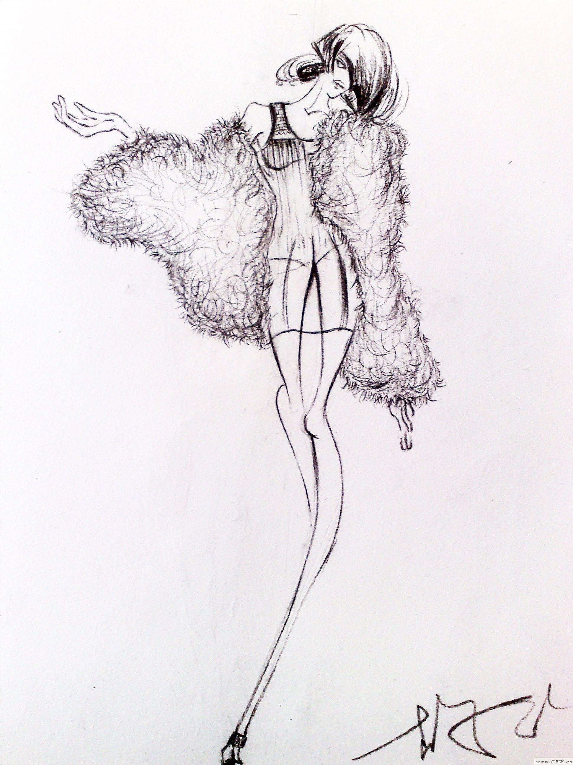 手绘-女装设计-服装设计