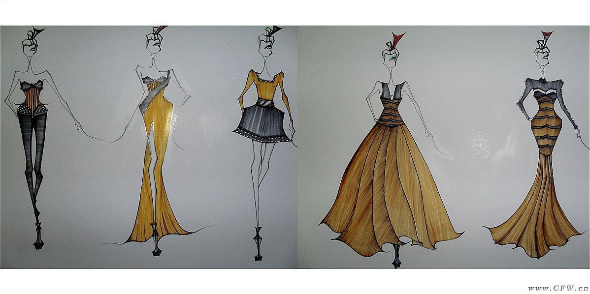 永恒埃及-女装设计-服装设计