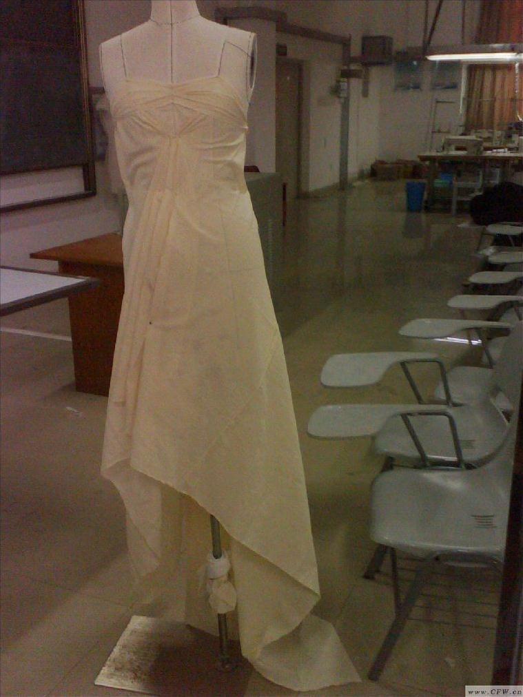 立裁练习-婚纱礼服设计-服装设计