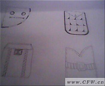 口袋创意设计图稿作品-口袋创意设计图稿款式图
