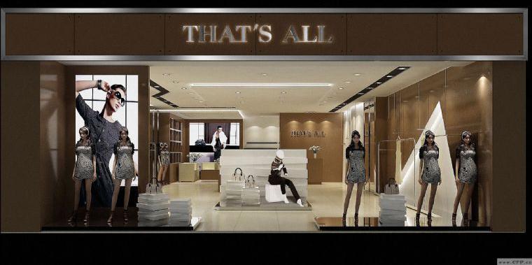 女裝店面效果圖-櫥窗陳列設計-服裝設計