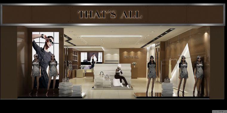 女装店面效果图-橱窗陈列设计-服装设计