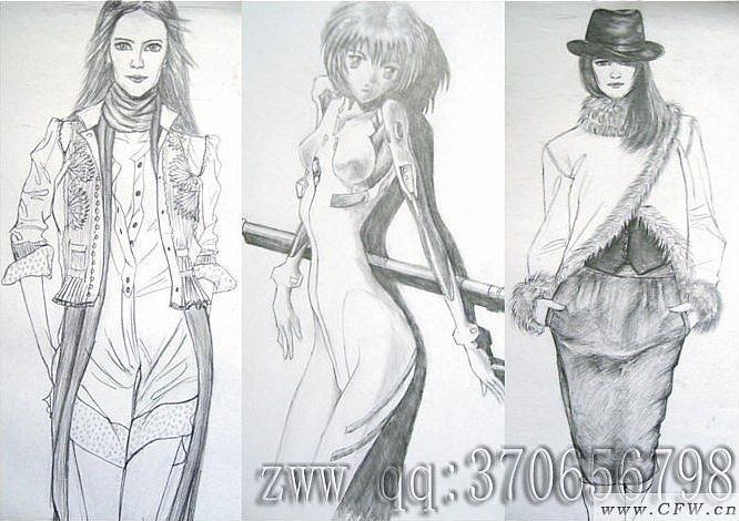 手绘服装效果图作品-手绘服装效果图款式图