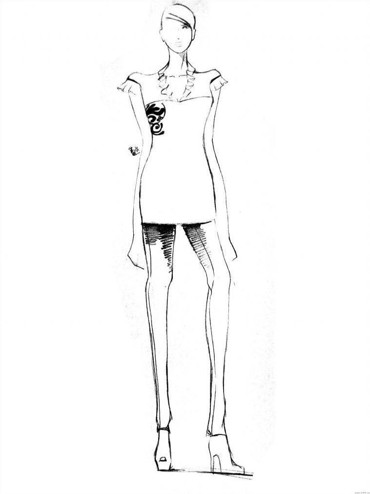 成衣手绘作品-成衣手绘款式图